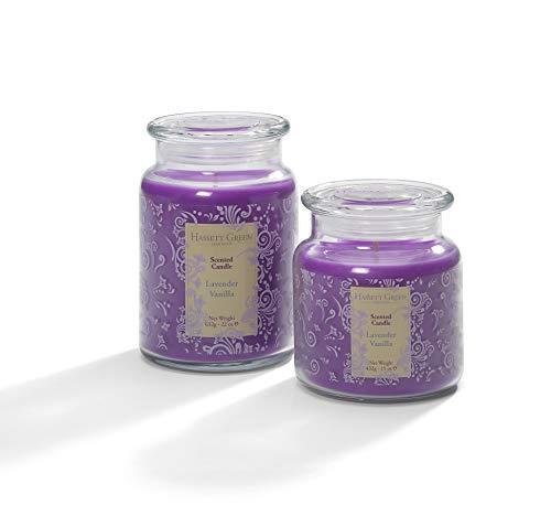 Hassett Green - Lavendel Vanille Geurende Kaars Potje Twin Gift Set Gemaakt in het Verenigd Koninkrijk