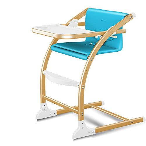 HU Babyhochstuhl Kinderstuhl4 in 1 Baby-Feed Stuhl, Gastronomie Mode Baby Stuhl mit Sitzhöhe anpassen, Can Change to Baby-Schaukelstuhl, Stable Hochstuhl,Blau