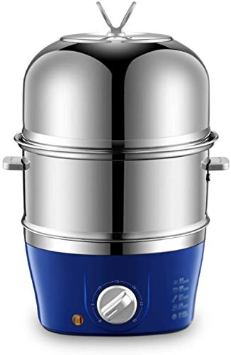 Swnn Huevo Caldera Caldera de huevos eléctrica, vaporizador eléctrico multifuncional Mini olla de huevos de acero inoxidable Capacidad 7 Huevos Tecnología sin ruido Apagado automático, Azul, 1