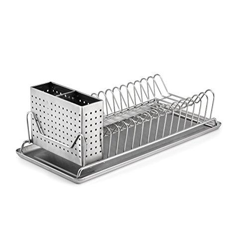 Polder–Compacto Estante para Platos, Color Plateado
