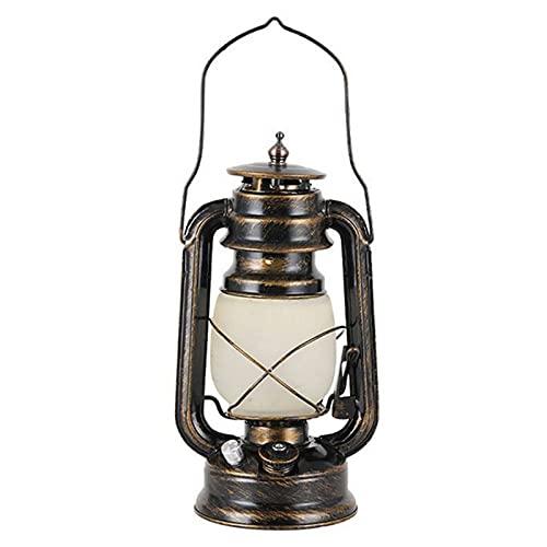 Linterna vintage, linterna de huracán, recargable LED portátil, lámpara retro para bar, camping, decoración de luz colgante interior y exterior, linterna de hierro antiguo para jardín, patio, patio