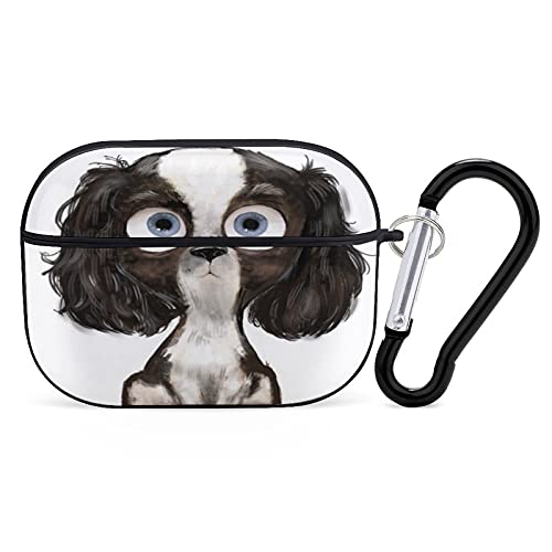Cute Cartoon Puppy Spaniel with Headphone case Bluetooth Earphone Case for iPhone AirPods 3 PC Hard Shell case Smooth Stain Resistant.