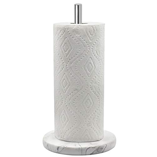 Topsky Paper Towel Holder for Kitchen Counter Top- Kitchen Paper Towel Dispenser with Weighted Base for Standard Paper Towel Rolls, Stainless Steel...