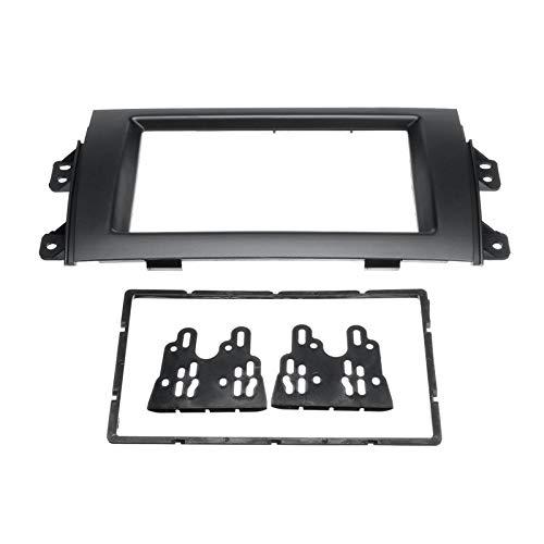FangFang 2Din - Marco de marco de marco de bisel para coche, radio estéreo, panel de salpicadero, ajuste para Suzuki SX4 2007-2013 para Fiat Sedici 2005+