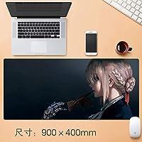 拡張大型プロフェッショナルゲーミングマウスパッド日本のアニメビッグデスクテーブルマット厚み付けノンスリップゴム耐水性デスクマットキーボードパッドで縫製エッジアニメギフト90 * 40センチメートル (サイズ : Thickness: 3mm)