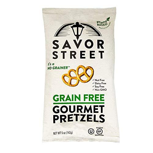 Savor Street Gluten-Free Pretzel Twists - Grain Free, Nut Free, Non-GMO Vegan Snacks, Original, 1-pack