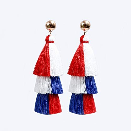 Pendientes borla mujer estilo étnico europeo y americano pendientes largos pendientes joyería DD