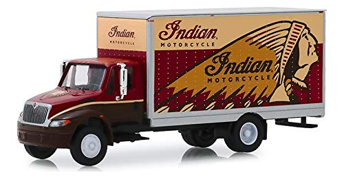 Greenlight 33170-A H.D. Trucks Series 17-2013 International Durastar Box Van - Motorcycle 1:64 Scale
