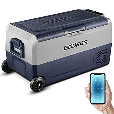 BODEGA 12 Volt Refrigerator, Portable Freezer, Car Fridge Dual Zone APP Control, 38 Quart?36L?-4?-68? RV Electric Compressor Cooler 12/24V DC and 100-240V AC for Outdoor, Camping, Travel