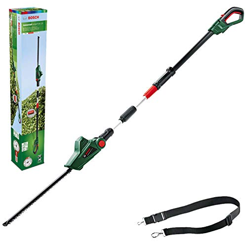 Bosch Cordless Telescopic Hedge Trimmer UniversalHedgePole 18 (1 Battery, 18 Volt System in...