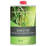 DE-COmmerce® 1 Liter Bambusöl BAMBOO CARE farblos für Bambuszaun außen I witterungsbeständiges Bambus Pflegeöl I Holzpflegeöl auf Leinölbasis I Klarlack für Bambus Holz zur Bambuspflege I Leinölfirnis
