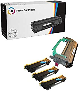 LD Compatible Toner Cartridge & Drum Unit Replacements for Konica Minolta PagePro 1300 Series (3 Toners, 1 Drum, 4-Pack)