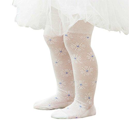 最安値|SOMILA 子供用編みタイツ 網タイツ 花柄 子供ドレス用