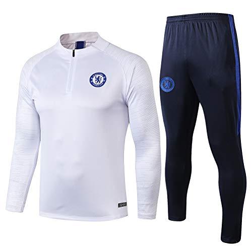 PARTAS Mens 2 Stück Sets Chelsea Tracksuits Football Wear Verein Uniform Langarm-Trainingsanzug Chelsea Wettbewerb Anzug (Size : XXL)
