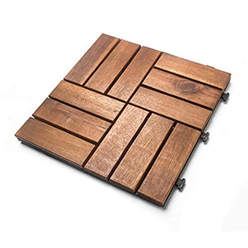 ZHJIUXING SF Tablero De Madera Anticorrosivo De 1m² - Baldosas Compuestas para Terrazas - Patio, Balcón, Azotea, Tejas para Terrazas