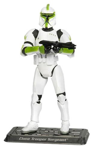 Hasbro Clone Trooper Sergeant The Rumbling Of War TSC060- Star Wars The Saga Collection