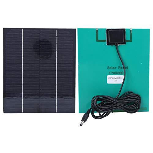 Emoshayoga Fuente de alimentación Panel de energía Solar para Todos los pequeños electrodomésticos