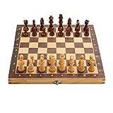 Ajedrez Juego de ajedrez Plegable, Juego de Mesa de Madera, ajedrez magnético, Hecho a Mano, ajedrez, Viajes, Juegos de Mesa internacionales ajedrez magnetico (tamaño : 34cm)