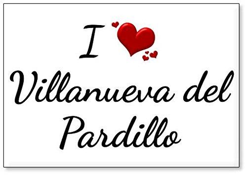 Mundus Souvenirs - Amo Villanueva del Pardillo, Imán para Nevera (diseño 3)