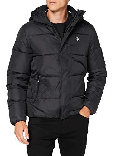 Calvin Klein Jeans Herren Hooded Puffer Jacket Jacke, Black, M