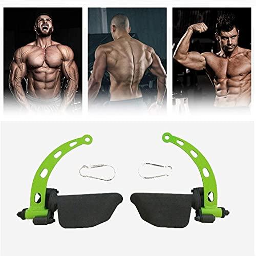LSWKG Mangos para Máquina de Cable de Polea de Fitness Mango de Remo Desplegable en Forma de Tracción de Cable con Empuñaduras de Goma para Entrenamiento de Bíceps Tríceps Músculos de la Espalda