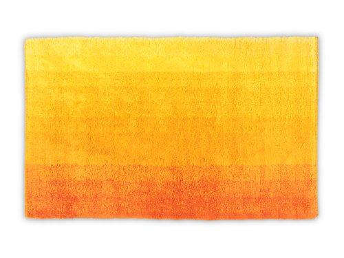 """Dyckhoff Badteppich """"Colori erhältlich in 6 trendigen Farbkombinationen und 3 verschiedenen Größen - ultraweich und angenehm an den Füßen, 70 x 120 cm, gelb"""