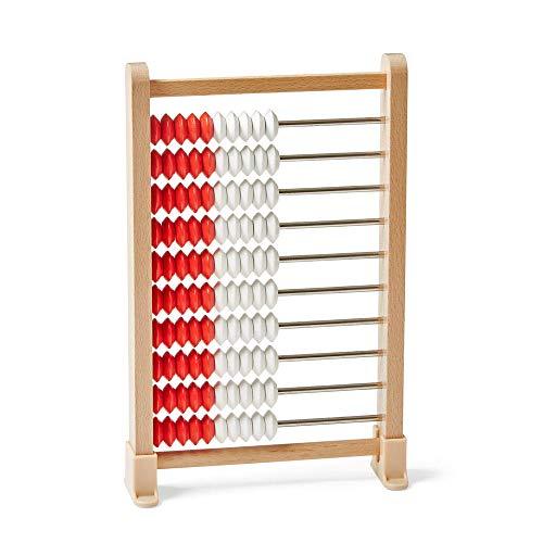 hand2mind Mini 100-Bead Wooden Rekenrek Abacus, Abacus for Kids Math, Wooden Counting Math Manipulatives, Bead Counters for Kids Math, Learn Counting and Numbers, Homeschool Supplies (Set of 4)