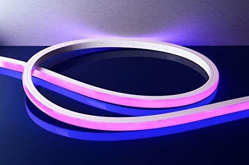 Tira de 24 V LED flex neón flexible 43 W RGB 3000 K luz piscina fuente IP68