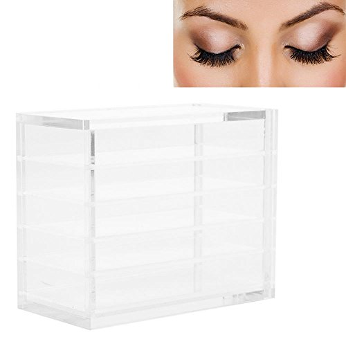 Eyelash Case, Fake Eyelash Storage Clear Lashes Storage Box Makeup Organizer Eyelashes Glue Pallet Holders 5 Layers Grafting Eye
