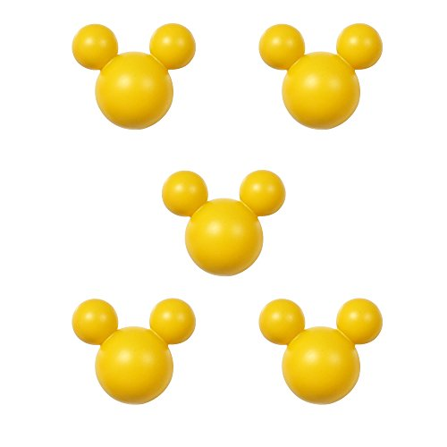 アルファタカバ ディズニー ミッキー取っ手シリーズ ツマミつまみ 5個セット イエロー