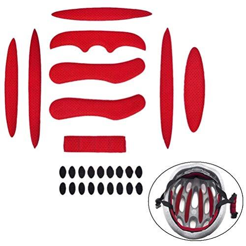 Yesoa 1 Set Helmpolster-Kits für Fahrrad, Universal Fahrrad-Motorradhelm-Polster, Schwamm, Radhelm-Polsterung, Zubehör, Schaumstoff-Pads Set Helm Eva Pads für Radfahren, Motorrad