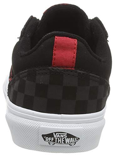 Vans Seldan, Scarpe da Ginnastica, Checkerboard Black/Black, 34.5 EU