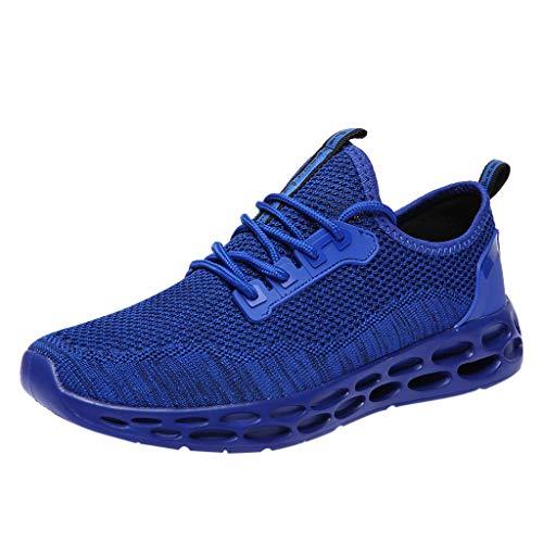 EUZeo Herren Damen Sneaker Slip on Sportschuhe Turnschuhe Outdoor Leichtgewichts Laufschuhe Freizeit Atmungsaktive Schuhe