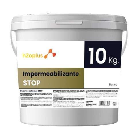Revestimiento Elástico Impermeabilizante Stop Pintura para Impermeabilizar parámetros horizontales en Terrazas, Azoteas, Balcones y Tejados · Color Blanco · 10KG (8,3 L)