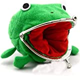 Shenrongtong Cute Frog Wallet Durable Anime Cosplay Frog Coin Purse Frog Change Pouch Money Bag Funny Plush Toy Gifts