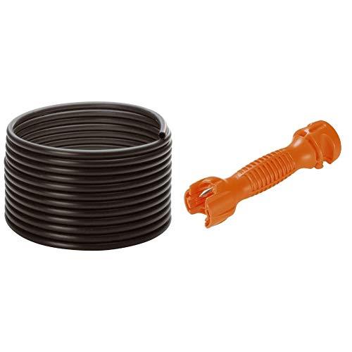 Gardena Micro-Drip-System Verlegerohr: Zentrale Versorgungsleitung, 13 mm (1/2 Zoll), ober- und unterirdisch verlegbar, UV-stabilisiert, 50 m (1347-20) & Micro-Drip-System Montagewerkzeug
