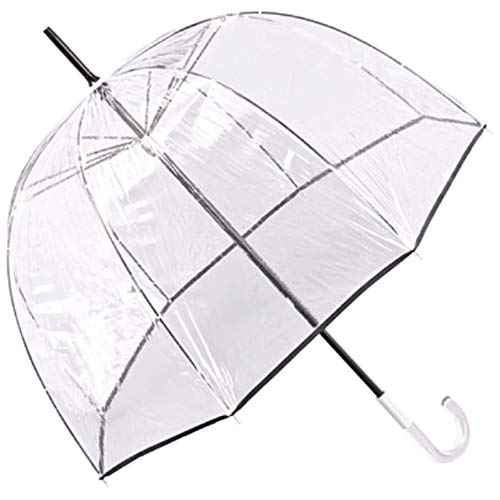 Jean Paul Gaultier Regenschirm Durchsichtig Transparent Damen Herren Alexis mit schwarzer Naht