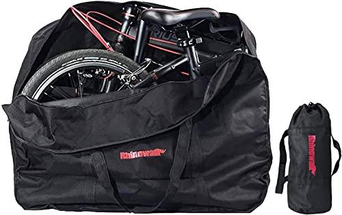 trancoss Borsa per Bicicletta Pieghevole Sacchetto di Trasporto della Bici 20 Pollici Ispessimento Impermeabile Borsone da Viaggio con Una Piccola Borsa, per Viaggio in Treno in Aereo