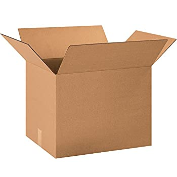 Aviditi 221515 Corrugated Cardboard Box 22  L x 15  W x 15  H Kraft for Shipping Packing and Moving  Pack of 20