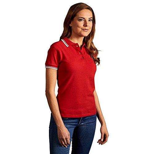 Kontraststreifen Poloshirt Damen