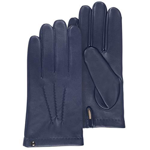 Isotoner - Guantes de piel para hombre azul (Marine) M