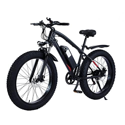 "HMEI Bicicleta eléctrica para Adultos 25MPH Fat Tire 48V 14.5Ah 750W Bicicleta de montaña Bicicleta 26 ""4.0 Fat Neumáticos E-Bike (Color : Negro)"