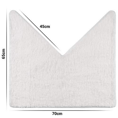 Santec Hoogpolige badmat van microvezel voor hoekdouches, met antislipbekleding aan de onderkant