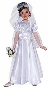 Forum Novelties Little Bride Wedding Belle Child Costume Dress and Veil Large