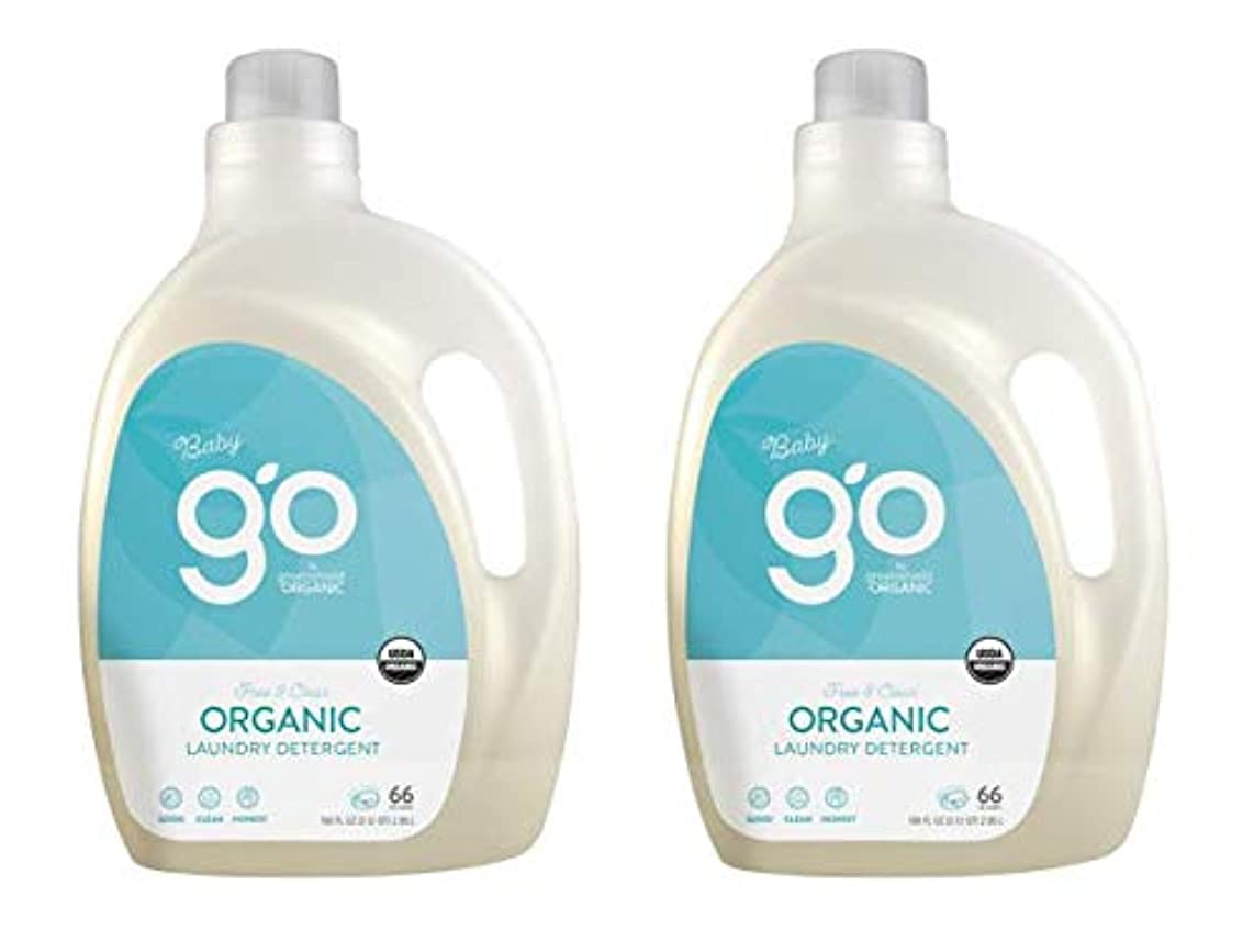 GO by GreenShield Organic, 100 oz. Baby Laundry Detergent- Free & Clear (Pack of 2)