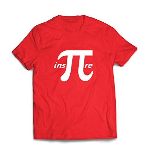 lepni.me Camisetas Hombre Inspire Pi Número Día Matemáticas Regalo matemático Geek (Small Rojo Multicolor)