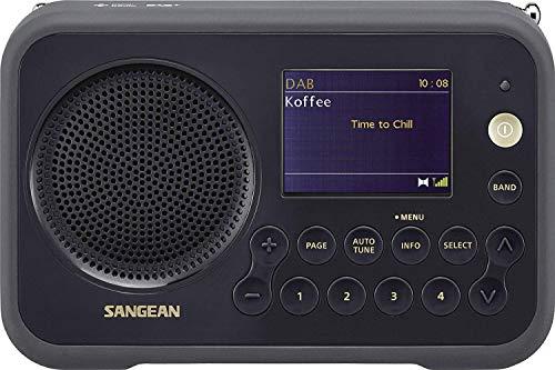 Oferta de Sangean DAB + radio portátil DPR-76 FM recargable Negro