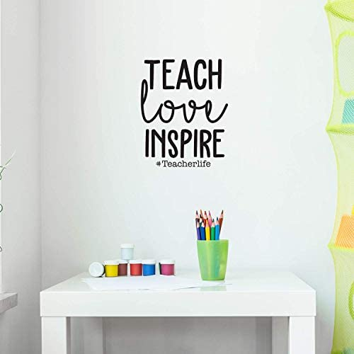 Vinyl Wall Art Decal Teach Love Inspire Teacherlife 22 x 17 7 Trendy Inspirational Teachers product image