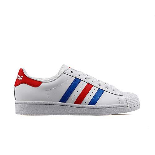 adidas Superstar - Zapatillas deportivas para hombre, color blanco, 46