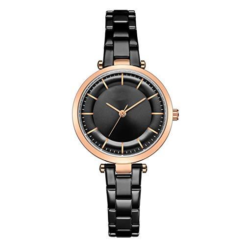 YQCH Relojes de Mujer Muñequera de Lujo Muñeco Reloj Relk Lady Fashion Fashion Gold con Regalos de Correa de Acero Inoxidable para Las Mujeres (Color : B)
